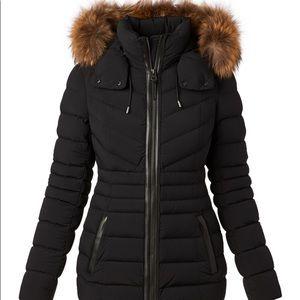 Mackage XL FUR LIGHT WEIGHT COAT BLACK